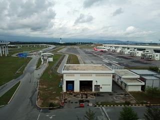 At the international airport of Kuala Lumpur