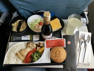 In-flight meals on the flight Phuket-Istanbul Turkish airlines