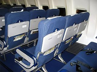 Seats economy class-Boeing-737-800 airline Nordstar