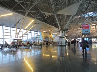 The sterile area in terminal A of Vnukovo airport