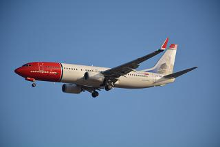 Boeing-737-800 number EI-FVP airline Norwegian