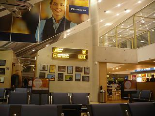 At the airport of Tallinn