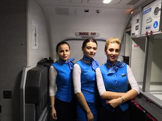 "Stewardesses of the airline ""Victory"