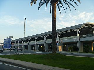 Car rack at the passenger terminal of the airport of Cagliari