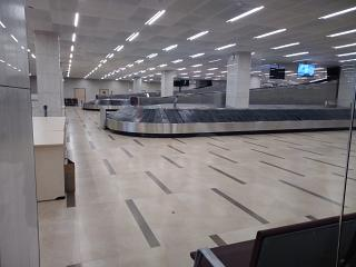 Baggage claim in the new terminal of airport Krasnoyarsk Emelyanovo