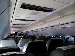 Салон самолета Боинг-737-500 авиакомпании UTair