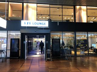 The business lounge of the airline SAS in terminal 2 of Copenhagen airport Kastrup
