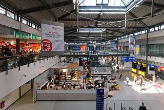 Arrivals area at Terminal B of Leipzig-Halle Airport