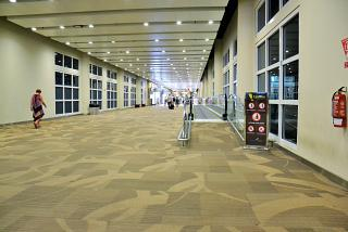 A walkway at the airport Denpasar Ngurah Rai international