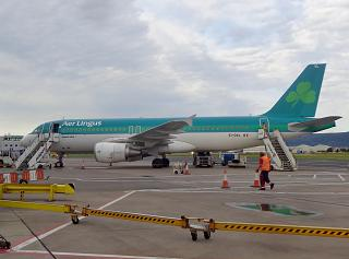The Airbus A320 EI-DVL Aer Lingus in Belfast city airport