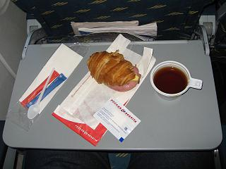 "Food on the flight Munich-Saint Petersburg airline ""Russia"""
