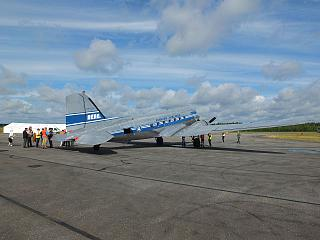 Самолет Douglas DC-3 Finnish Airlines в аэропорту Лаппеэнранта