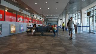 The waiting room at the airport Tivat