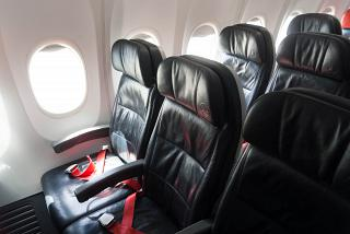 The passenger seats in the Boeing-737-800 Turkish airlines
