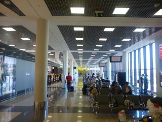 Waiting room in terminal E of airport Moscow Sheremetyevo