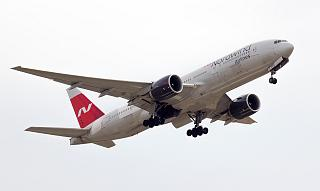 Nordwind Airlines Boeing-777-200 VP-BJG taking off