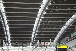The roof of the Terminal 5 of London Heathrow airport