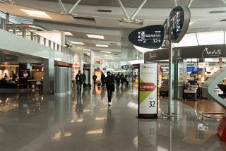 In a clean area of the airport Porto Francisco S
