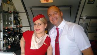 Flight attendants of the airline Ellinair