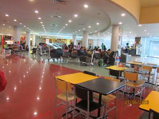 The waiting room at the Cebu Pacific terminal in Manila airport Manila airport