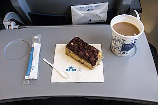 Dessert on the flight from Moscow to Amsterdam airline KLM