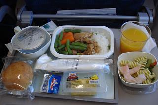 Food on the flight Vladivostok-Seoul Korean Air