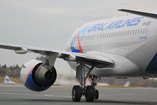 Airbus A319 VP-BTF Уральских авиалиний