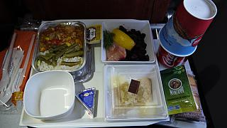 Flight meals on the flight of Aeroflot Moscow-Havana