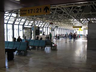 The gates in terminal 1, Lisbon Portela airport