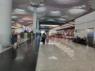 Check-in area at the new Istanbul airport