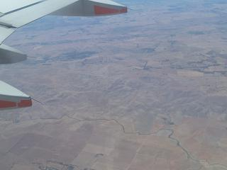 In flight over Central Australia