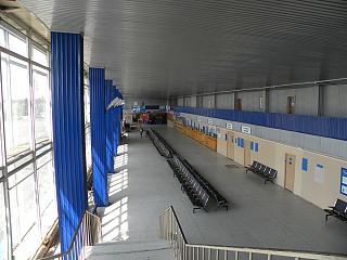 In the terminal building of the airport of Bratsk