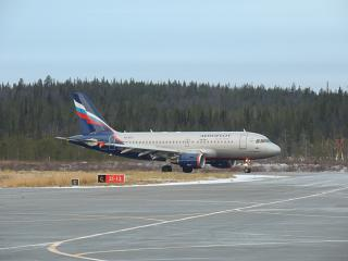 The Airbus A319 VQ-BCO Aeroflot has landed in Murmansk