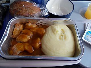 Food on the flight Rostov-Barcelona Air Europa