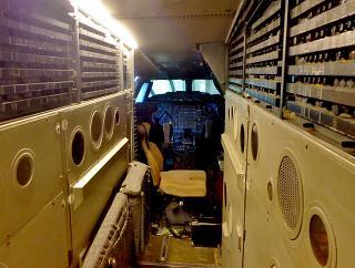 Concorde aircraft pilot's cockpit