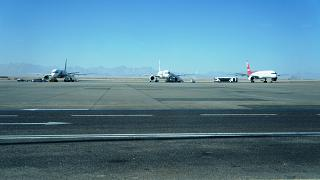 Aircraft on the airport apron Hurghada