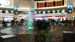 The fountain in the clean area of airport tel Aviv, Ben Gurion