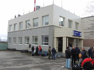 The arrival hall of the airport of Murmansk