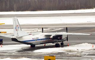 Antonov an-26 Kostroma air enterprise at the airport Pulkovo
