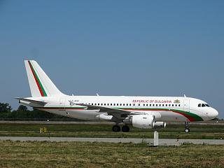 Airbus A319 LZ-AOB of the Government of Bulgaria at the airport Borispol