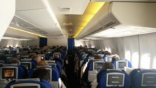 The cabin of the aircraft Boeing-747-400 British Airways