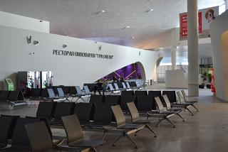 The waiting room in a clean area of Terminal 1 of the airport to Samara Kurumoch