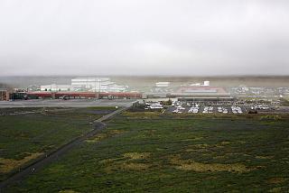 Keflavik airport in Reykjavik