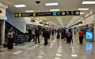 Hall G dirty zone MVL airport Mexico city, Benito Juarez