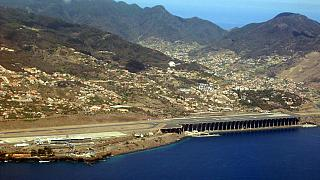 A view of the Funchal airport on Madeira island