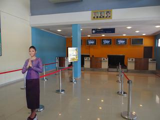 Reception at the airport of Sihanoukville
