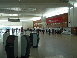 Reception at the airport of Adelaide