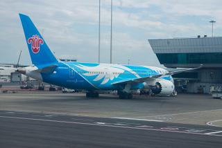 Boeing-787-8 China Southern airlines at the airport of Rome Fiumicino