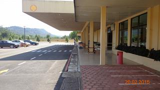 The entrance to the terminal of the airport of Sihanoukville