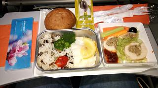 The catering meal on the Aeroflot flight tel Aviv-Moscow
